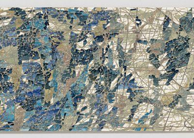 Sam Reveles, Poulaphouca 4, 2017, Gouache on paper, 11h x 30 1/2w in