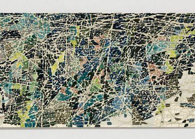Sam Reveles, Poulaphouca 5, 2017, Gouache on paper, 11h x 30 1/2w in