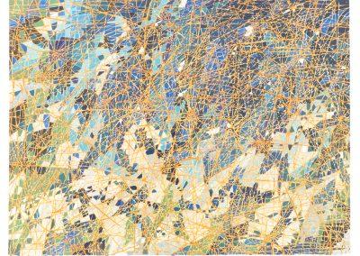 Sam Reveles, Wicklow Drawing 2, 2017, Gouache on paper, 22h x 30w in