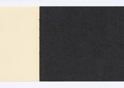 Richard Serra, Horizontal Reversal V, 2017, Hand-applied Paintstik and silica on two sheets of handmade paper, signed on verso, 15 × 42 in