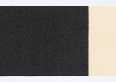 Richard Serra, Horizontal Reversal X, 2017 Hand-applied Paintstik and silica on two sheets of handmade paper, signed on verso, 15 × 42 in