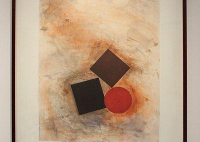 Joel Shapiro, Untitled, 1992, Aquatint etching, 37 3/8h x 27 3/4w in