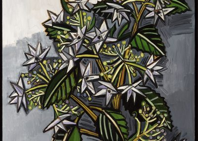 David Bates, Shooting Star Hydrangea, 2017, Oil on canvas, 36h x 30w in