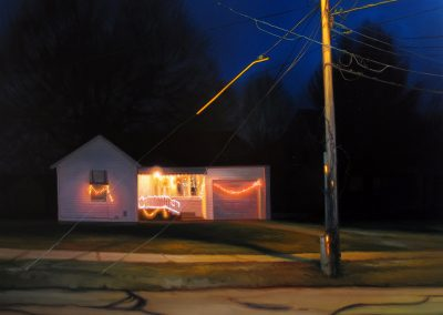 Sarah Williams, South Thelma Avenue, 2015, oil on panel, 24 x 30 in