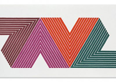 Frank Stella, Empress of India 1968, Color lithograph on paper, 16 1/4 x 30 1/2 in