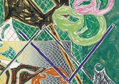 Frank Stella, Shards V, 1982, Offset lithograph and color screenprint, 39h x 45w in