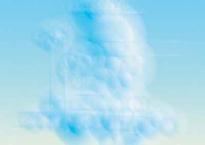 Ted Kincaid, Summer Cloud 1001, 2012, Digital photograph printed on canvas, 48h x 48w in