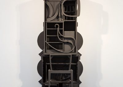 Louise Nevelson, Untitled, 1976-1978, 1976 - 1978 Wood and Black paint, 95 5/8h x 39 1/2w x 23d in
