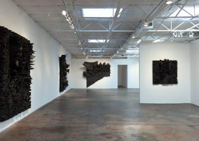 Leonardo Drew, Installation view, 2017, Talley Dunn Gallery