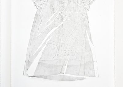 Linda Ridgway, The Brother II, 2015, Graphite on paper, 30h x 22w in