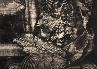 Ted Kincaid, The Whore of Lies, 2019, Intaglio print, 23h x 19w in