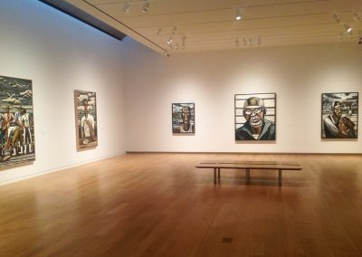 David Bates, Installation view, 2014, The Modern Art Museum of Fort Worth