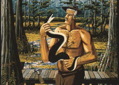 David Bates, Man with Snake, 1995