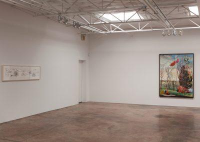 Melissa Miller, Installation view, Melissa Miller: Paintings, 2014, Talley Dunn Gallery