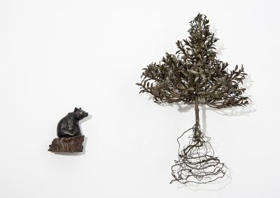 Linda Ridgway, Little Bear, 2015, Bronze with two parts, 18 x 21 x 9 1/2 in