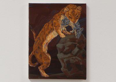 Melissa Miller, Little Death, Weasel, 2013, Oil on canvas, 12h x 9w in