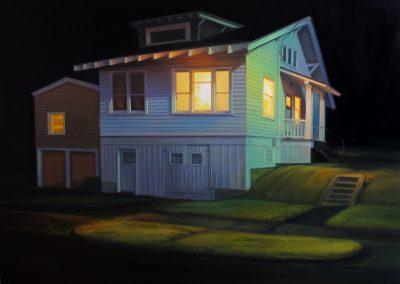 Sarah Williams, Marine Drive, 2015, Oil on panel, 18 x 24 in
