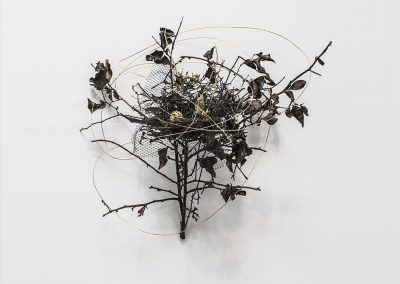 Linda Ridgway, Nature's First Green Is Gold, 2016, Bronze with 24 carat gold, unique, 18 x 16 x 12 in