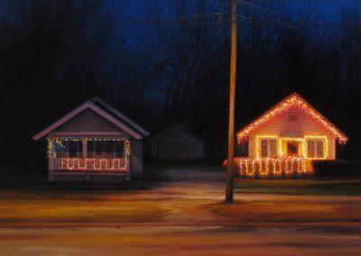 Sarah Williams, Prince Lane, 2015, Oil on panel, 18 x 24 in
