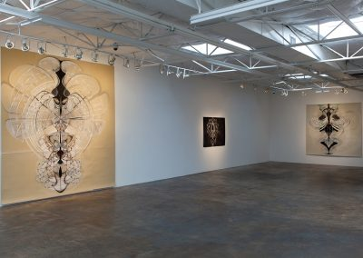 Amy Myers, Installation view, Atomic Cosmologies, 2014, Talley Dunn Gallery