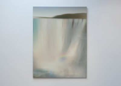 Ted Kincaid, Variation on a Waterfall by Church 1, 2015, Solvent based ink on canvas, 72h x 54w in