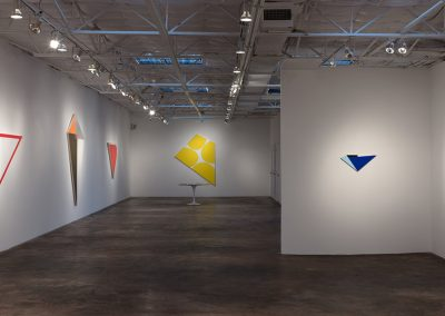 Installation view, Aaron Parazette, Irregular Quadrilaterlas, 2016, Talley Dunn Gallery