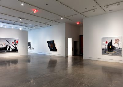 Installation View, Words and Pictures: Vernon Fisher, 1980 – 2019, 2019, UNT Gallery