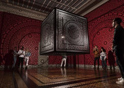 Anila Quayyum Agha, Installation View, Between Light and Shadow, Toledo Museum of Art, 2019