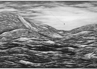 Robyn O'Neil, These final hours embrace at last; this is our ending, this is our past., 2007, Graphite on paper, 77 ½ x 161 ¼ inches, Collection of the Modern Art Museum of Fort Worth