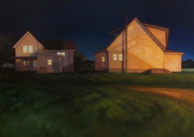 Sarah Williams, Balkan Avenue, 2019, Oil on panel, 24h x 36w in