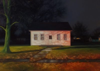 Sarah Williams, Colfax Road, 2019, Oil on panel, 16 x 20 in