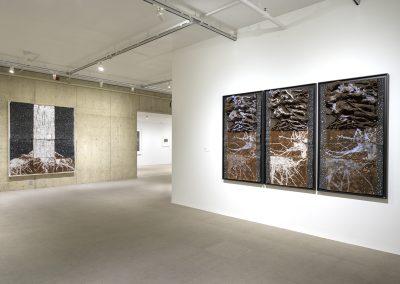Leonardo Drew, Installation View, Cycles, University Museum of Contemporary Art, University of Massachusetts Amherst, 2019