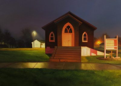 Sarah Williams, Marshal County, 2019, Oil on panel, 18h x 30w in