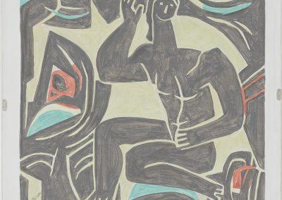 Francesca Fuchs, Biese 3, 2020, Acrylic on canvas, 18 1/2h x 20w in