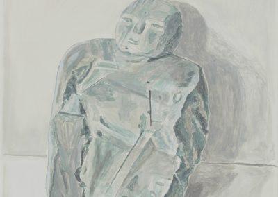 Francesca Fuchs, Buddha, 2020, Acrylic on canvas, 42h x 29 1/4w in