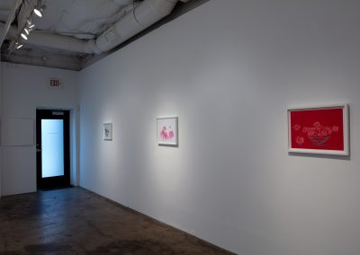 Butt Johnson, Installation view, Drawing Fast and Slow, 2020, Talley Dunn Gallery