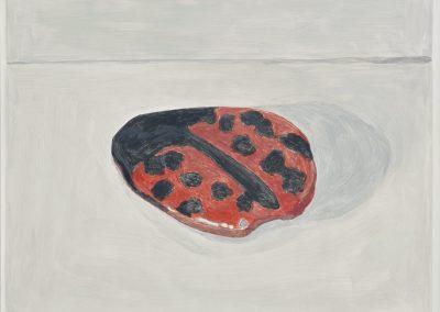Francesca Fuchs, Ladybug, 2019, Acrylic on canvas, 22h x 30 1/4w in