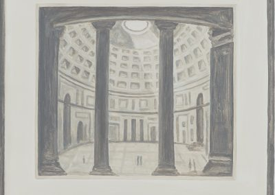 Francesca Fuchs, Pantheon, 2020, Acrylic on canvas, 26h x 28w in