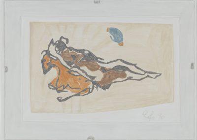 Francesca Fuchs, Reinhild B, 2020, Acrylic on canvas, 18 1/2h x 25w in