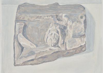 Francesca Fuchs, Relief, 2019, Acrylic on canvas, 19h x 25 1/2w in