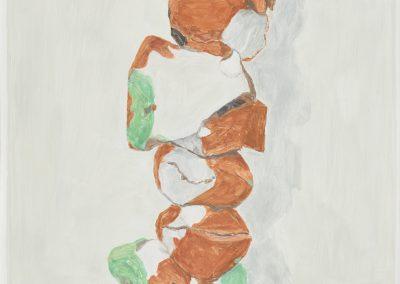 Francesca Fuchs, Stack, 2019, Acrylic on canvas, 47h x 30w in