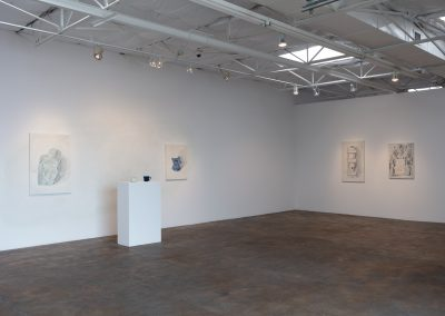 Francesca Fuchs, Installation view, Painting and Mugs, 2020, Talley Dunn Gallery