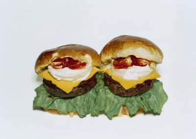 Sharon Core, Two Cheeseburgers with Everything, 2006/2018, Archival pigment print, 35 3/8 x 43 1/2 inches