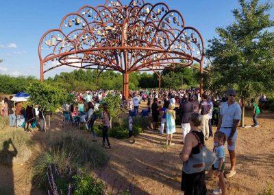 Margarita Cabrera, Installation view, Arbol de la Vida, 2017-2019,  Public artwork, Mission Espada Portal, San Antonio, TX