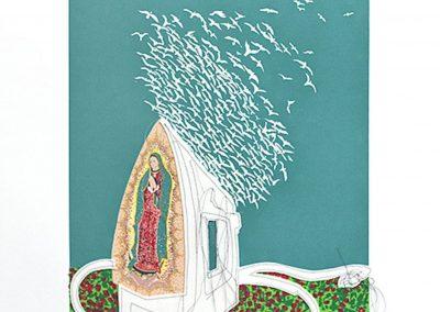 Margarita Cabrera, Iron Will, 2013, Serigraph, 30h x 22w in