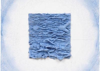 Leonardo Drew, 15P, 2012, Pigmented handmade paper with cast paper pulp, 36h x 36w in