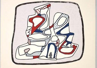 Jean Dubuffet, Immeuble, 1976, Screenprint, 27 1/2h x 34 1/2w in