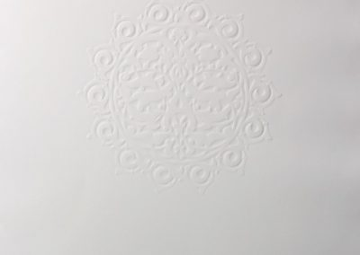 Anila Quayyum Agha, A Hundred Waves, 2019, Embossed print on paper, 29h x 21 1/2w in