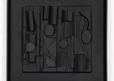 Louise Nevelson, Symphony Three, 1974, Polyester resin cast multiple, 18 1/8h x 18 3/8w in