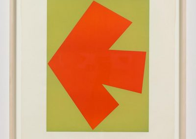 Ellsworth Kelly, Orange Over Green (Orange sur Vert), from the Suite of Twenty-Seven Color Lithographs, 1964, LIthograph in colors on Rives, BFK paper, with full margins, 35 1/4h x 23 3/4w in